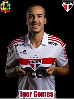 Igor Gomes - 5,5: Destoou um pouco da equipe, e perdeu uma chance clara na primeira etapa. Precisa participar mais do jogo.