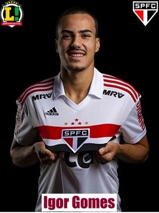 Igor Gomes – 6,5: Foi uma das principais peças ofensivas do São Paulo no jogo, dando início à muitas jogadas de perigo. Voltou para a defesa para ajudar a equipe. Foi substituído no final do jogo.