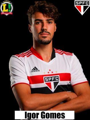 Igor Gomes - Segue no elenco, e alterna entre a titularidade e a reserva (marcou um gol contra a LDU)