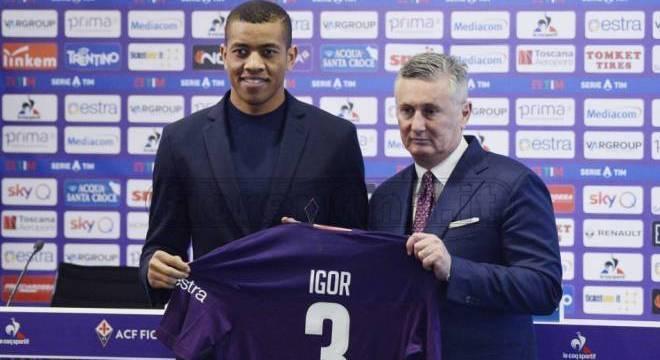 Igor foi contratado pela Fiorentina nesta temporada