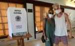 Igor Rickli e Aline Wirley votaram no Rio