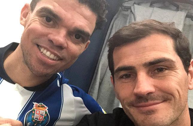 Iker Casillas e Pepe: jogaram juntos no Real Madrid e no Porto.