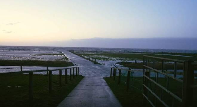 A ilha Oland é uma das chamadas ilhas Hallig, localizadas no Mar do Norte