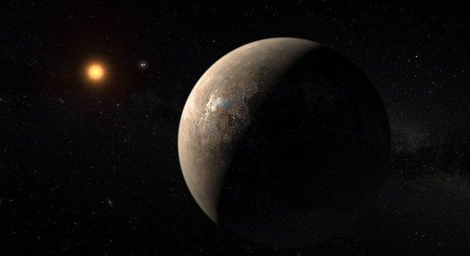 A Proxima Centauri é outra estrela anã vermelha que tem um exoplaneta rochoso em sua órbita, mas suas explosões solares tornam improvável que possa haver vida nos planetas ao seu redor