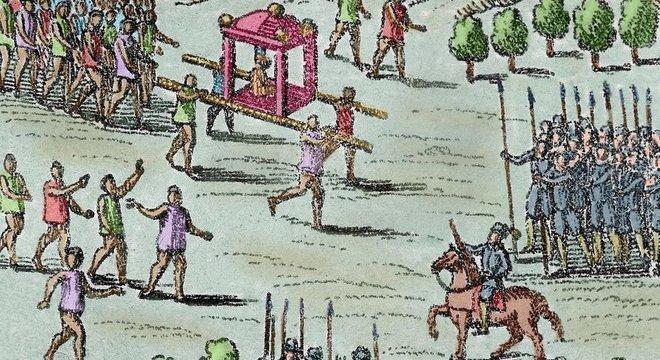 Armas e cavalos foram uma grande vantagem dos espanhóis