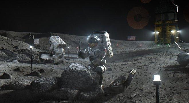 Ilustração: a Nasa quer voltar à Lua, e desta vez quer ficar