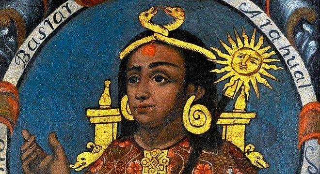 O inca Atahualpa é imaginado invadindo a Europa no livro