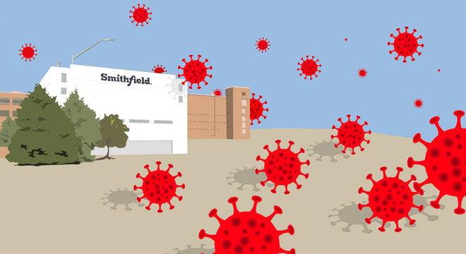 Com 3,7 mil trabalhadores, Smithfield é a quarta maior empregadora de Big Sioux e também o local do maior surto de coronavírus nos Estados Unidos
