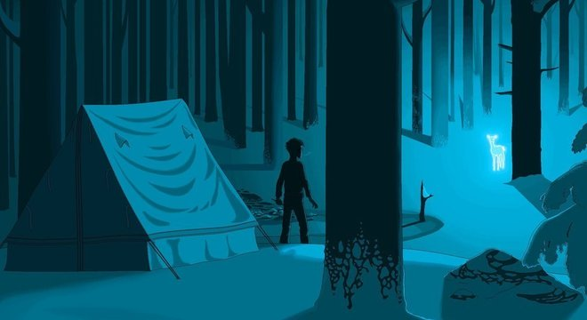 Cena de 'Harry Potter e as Relíquias da Morte', digitalmente reproduzida no Paint pelo artista Pat Hines