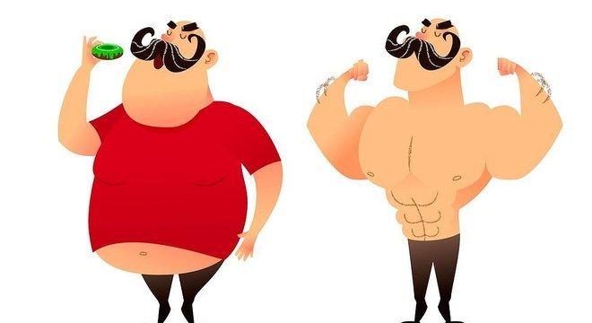 Embora que os homens percam peso mais rapidamente, as diferenças são compensadas