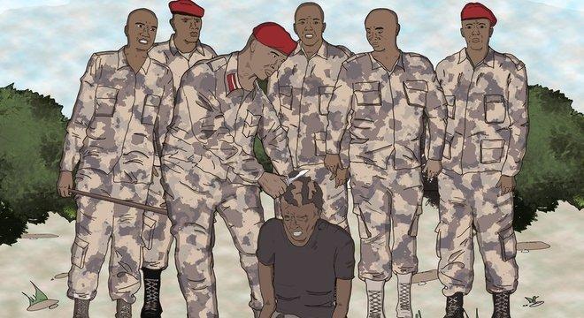 Não está claro por que forças de segurança começaram a raspar a cabeça de homens com black power, mas o penteado constuma ser associado, em círculos religiosos conservadores, com um comportamento fora das normas.