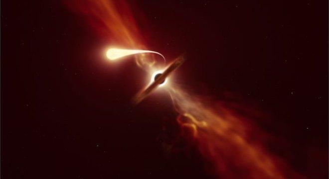 A espaguetização é o resultado de um evento catastrófico para uma estrela