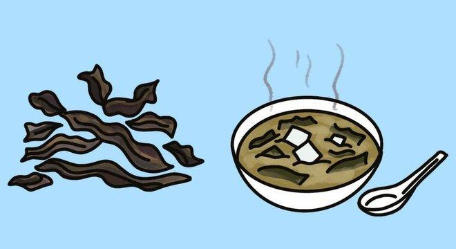 A alga wakame é bastante popular no Japão, mas já é cultivada também nos mares da França, da Nova Zelândia e da Argentina