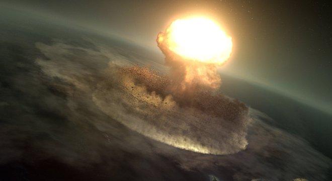 Asteroide liberou uma energia equivalente a 10 bilhões de bombas de Hiroshima