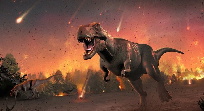 Impacto de meteoro, segundo cientistas, causou a extinção dos dinossauros