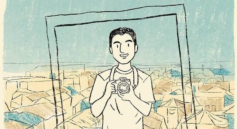 Mohamad Al Jounde pelo traço da ilustradora Fernanda Ozilak