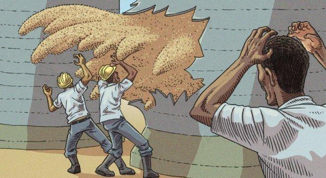 Ruptura de parede de silo foi um dos tipos de acidente em armazéns de grãos que provocaram mortes no Brasil na última década Mortes em silos em outros países