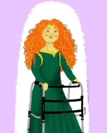 A Merida, do filme Princesa Valente, representada como uma mulher PCDLeia também:'Meu marido não é herói': romance de pessoas deficientes ainda é tabu