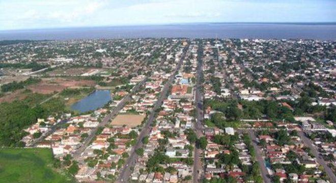 Vista aérea de Macapá (AP)