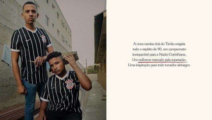 Imagem da campanha da Nike que utilizou torcedores comuns do Corinthians para divulgar o novo uniforme