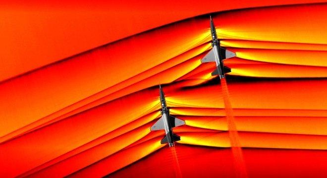 Não, este não é o descanso de tela de um fã de aviação, tampouco uma criação futurista feita no Photoshop