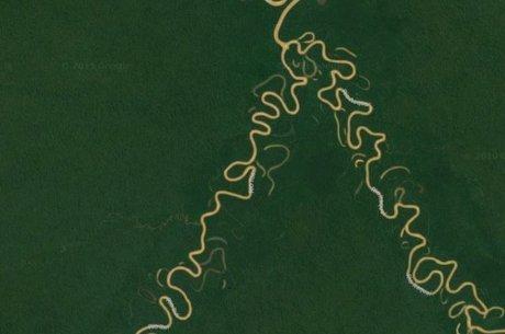 Conflitos entre Matis e Korubo ocorreram na região dos rios Branco e Coari, perto da fronteira do Brasil com o Peru