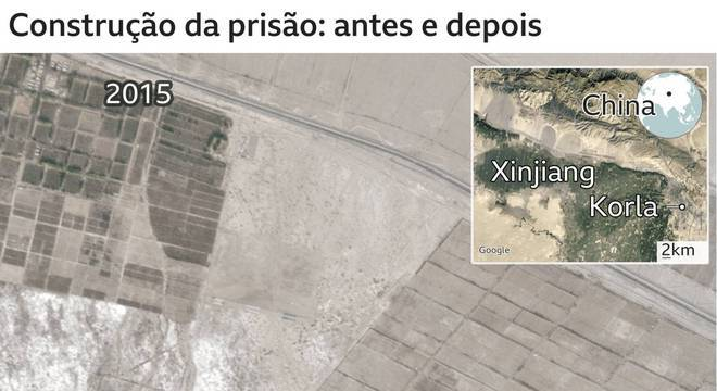 Em 2018, surgiu uma nova fábrica logo ao lado. Pouco depois de finalizada a construção, um satélite captou outra imagem importante