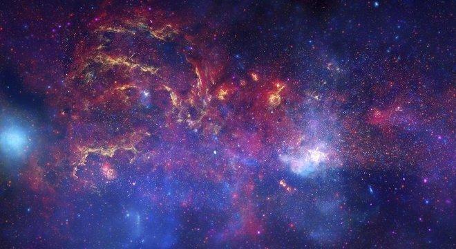 O Universo que podemos ver atualmente é composto de aglomerados de partículas, poeira, estrelas, buracos negros, galáxias e radiação