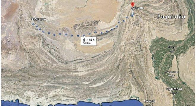 Iraniano atravessou mais de 700 km só de deserto para alcançar o Paquistão e novas possibilidades para sua vida