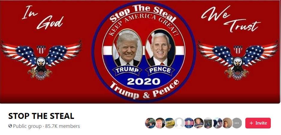 Um dos vários grupos que surgiram nas redes sociais após as eleições nos Estados Unidos
