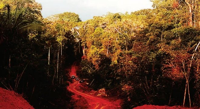 Imagem do Ministério Público do Mato Grosso mostrando o caminho para chegar até Colniza, onde nove pessoas foram assassinadas em abril de 2017