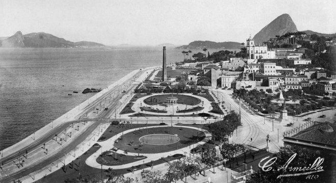 Avenida Beira Mar e Bairro da Glória: fotógrafo francês retratou o Rio no início do século 20