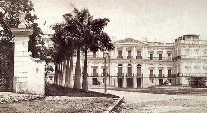 O prédio do Museu Nacional já foi morada da família real no Rio de Janeiro