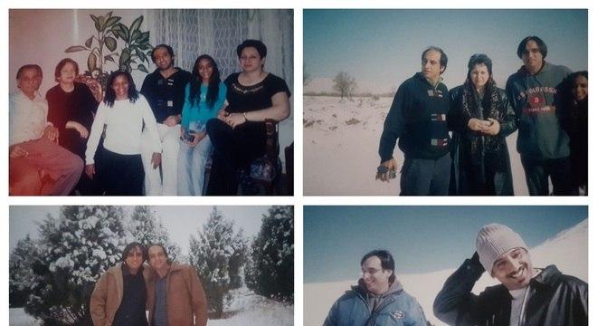 Paknoosh com os pais e parte dos irmãos em Karaj, no Irã: reencontro foi marcado por momentos de emoção 20 anos após sua partida