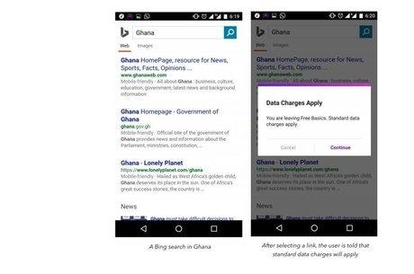 """Estudo mostra como """"Free Basics"""" funciona em Gana, com busca patrocinada no Bing e uso de dados para acessar a rede normal"""