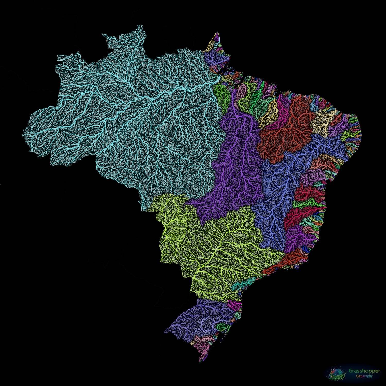 Húngaro registrou diversidade da rede fluvial brasileira em cores vivas, em uma galeria que reúne mais de 100 partes do mundo