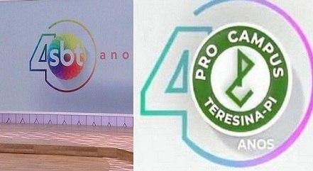 SBT e grupo educacional têm logos iguais dos 40 anos. Quem fez primeiro?