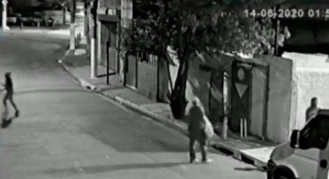 Policial aparece nas últimas imagens registradas de Guilherme