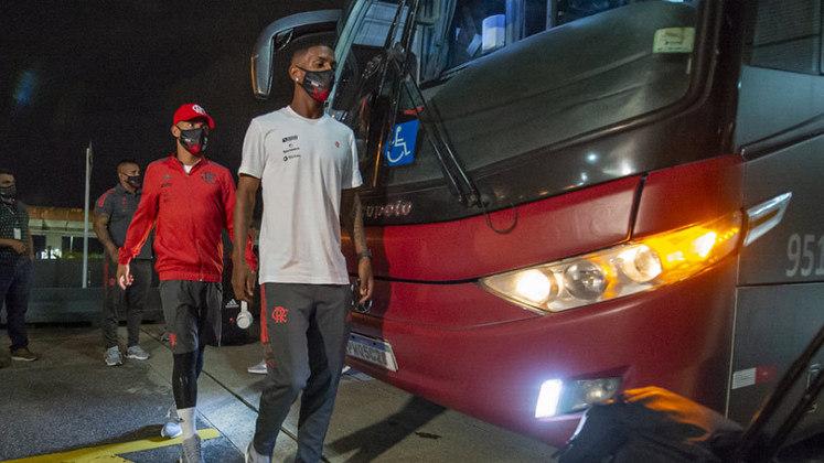 Imagens da chegada do Flamengo a Buenos Aires