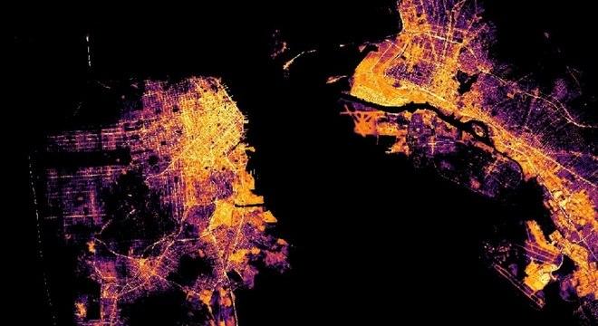 Imagens com níveis de poluição tirada pelo satélite da Nasa