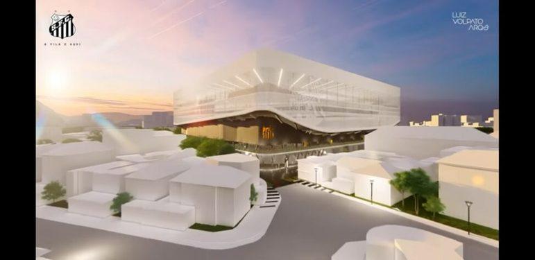 Imagens do projeto da nova Vila Belmiro