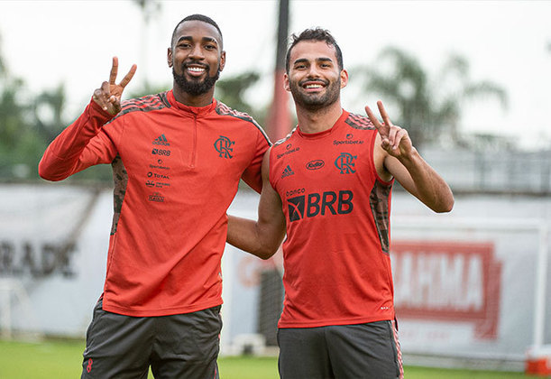 Imagens do último treino de Gerson pelo Flamengo