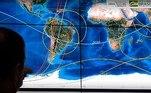 O Instituto Nacional de Pesquisas Espaciais (Inpe) divulgou na quarta-feira (3) as primeiras imagens feitas pelo satélite Amazonia 1, lançado na madrugada de dia 28 de fevereiro do Centro Espacial Satish Dhawan, na cidade de Sriharikota, na província de Andhra Pradesh, na Índia