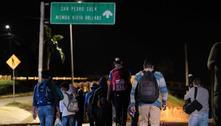 Caravana com 400 migrantes parte de Honduras rumo aos EUA
