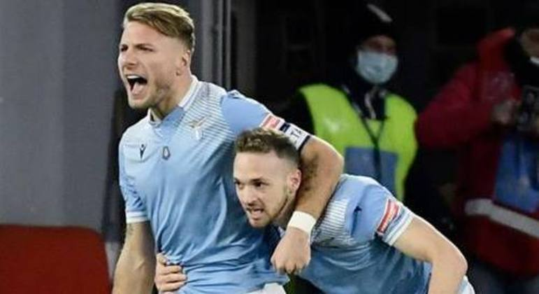 Immobile e Lazzari, na celebração do 1 X 0