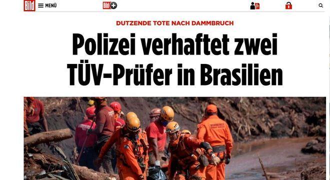 Bild Zeitung destacou prisão de engenheiros da TÜV Süd