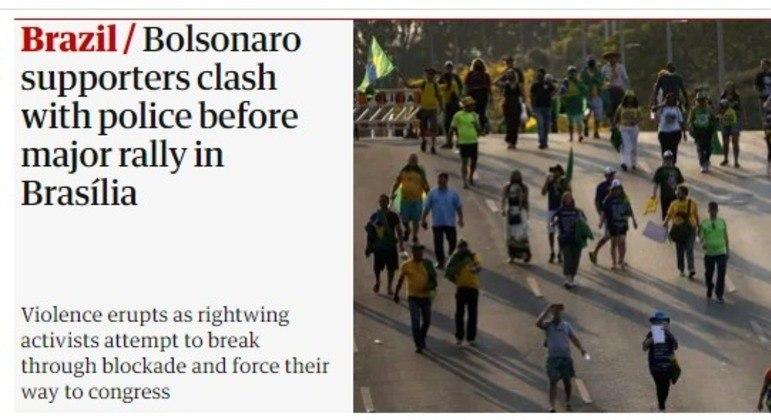 Protestos do 7 de Setembro foram manchete do jornal britânico The Guardian