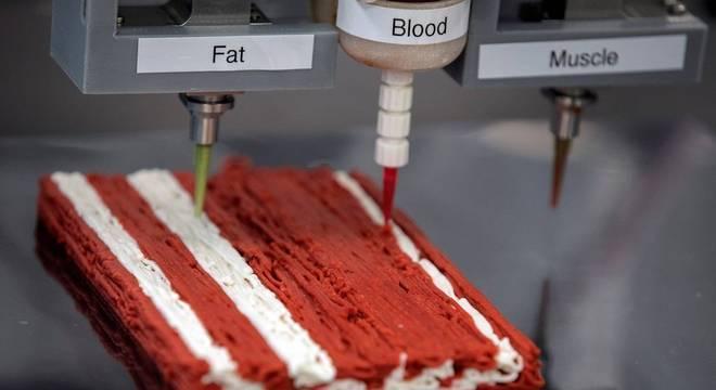 Impressão 3d pode ajudar na popularização de carnes feitas de planta