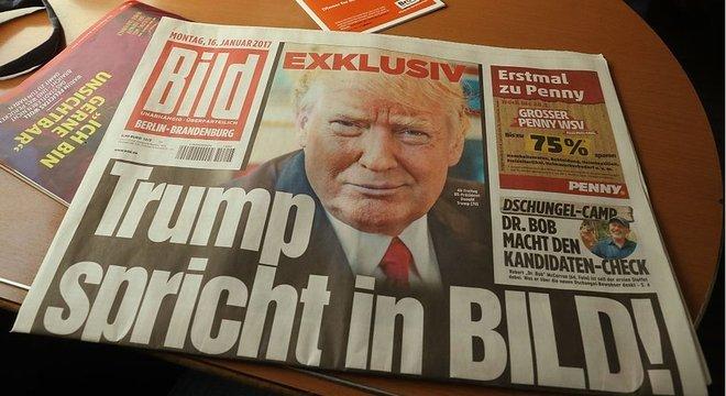 """O presidente Donald Trump usou """"cotoveladas afiadas"""" no palco global"""