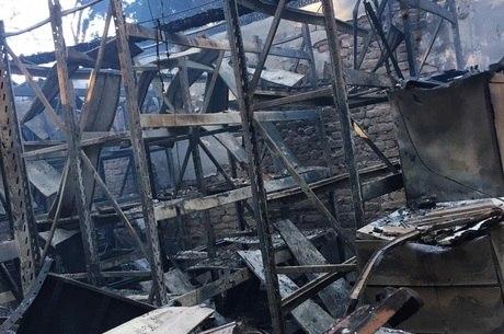 Parte das obras foram destruídas